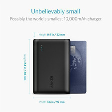 2017 Anker Powercore 10000 Batería Portátil externa con cargador USB iOS y and