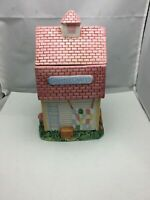 Vintage Porcelain Cookie Jar Country Crafts Size: 5,75 X 10
