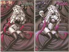 Lady Death Dragon Wars 1. Violet & Naughty Violet Editions. Matched #7's/99.