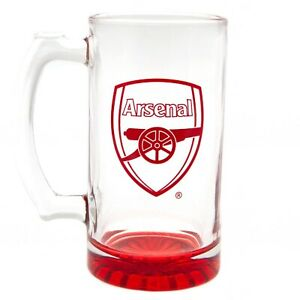 Arsenal FC Stein Glass Tankard CC - Beer Ale Lager Mug - Official Merchandise