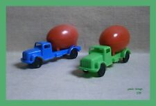 Truck With Red Easter Egg Lot X 2 New GREEK GREECE VINTAGE RARE PLASTIC