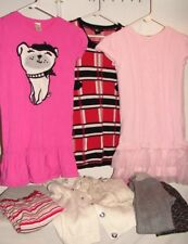 Girls Size 7-9 Clothing Lot ( 6+ pc) Gymboree/ Justice- Winter Sweaters Dresses