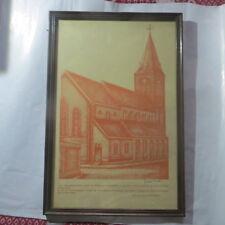 Cadre en bois sous verre avec Eglise de St Maartenskerkgemeenschap PEUTIE  Kerst