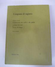 book LIBRO L'IMPOSTA DI REGISTRO Tomo secondo volume secondo 1970 PEM (L42)