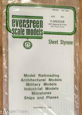 "Evergreen Styrene #4250 6 x 12"", V-Groove .040"" Thick -- .250"" spacing"