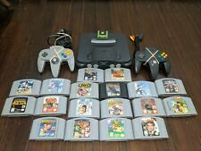N64 System/Console Lot With 18 Games, Some Rare. Super Mario 64, Mario Kart Plus