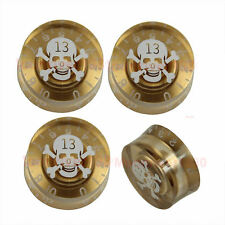 4Pcs Skull Speed Control Knob For Gibson Les Paul Electric Guitar Part