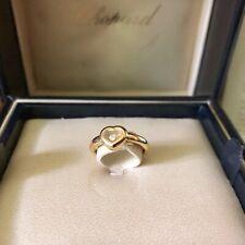 Genuine Chopard Happy Diamond 18k Yellow Gold Ring Size M 52 Certificate 🇬🇧