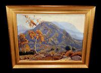VINTAGE CALIFORNIA ART LANDSCAPE OIL PAINTING SAN GABRIEL MOUNTAINS HORACE SMITH