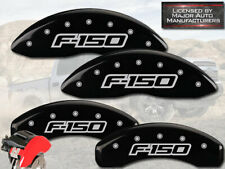 "2012-2014 Ford F150 ""F-150"" Front + Rear Black MGP Brake Disc Caliper Covers 4pc"