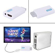 HDMI 2HDMI Full HD 1080P Converter Adapter For Wii 3.5mm Audio Output Jack US