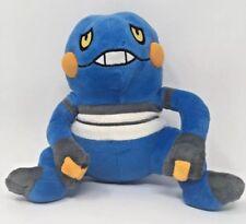 "2007 9"" Talking Pokemon Croagunk Plush Blue Official Animal Toy ~ Works!!"