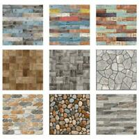 20pcs Wall Tile Stickers Kitchen Bathroom Mosaic Self-adhesive Decor 10x10cm