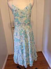 NWT Ann Taylor Blue Multi Floral 100% Silk Dress Sz 12 MSRP $149