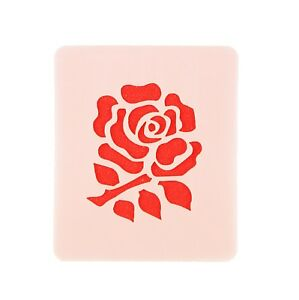 English Rugby Rose Face Painting Crafting Card Making Stencil 7cm x 6cm Reusable