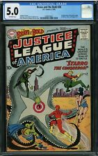 BRAVE AND THE BOLD 28 CGC 5.0 - 1st Justice League of America 0288974001 🔥