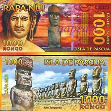 Easter island 1000 Rongos Paper Money UNC Banknotes Uncirculated brand new 1pcs