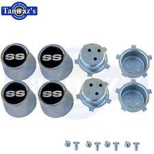 "Chevy "" SS "" Wheel Center Cap 4 pc Set w/ Retainer & Hardware"