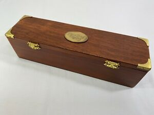 The Art Of Writing Travelers Chest Wooden with Brass Corners Calligraphy Tools