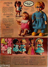 1969 ADVERTISEMENT Doll Beasley Cinderella Bo-Peep Buffy Baby Nancy Small Talk
