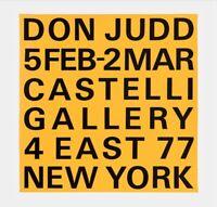 Donald Judd Exhibition Poster, Leo Castelli Gallery, 1966 - 23 x 23 Last One!!!