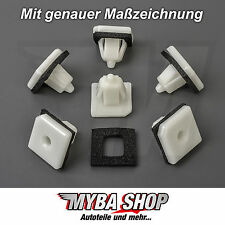 25 x guardabarros fijaciones parachoques clips HYUNDAI KIA Blanco 8775837000 #