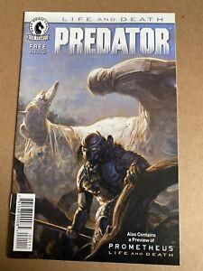 Predator - Prometheus Life and Death Preview Ashcan #0 2016 Brand New Dark Horse