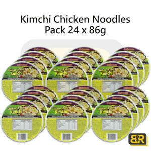 Mr Noodles Kimchi Chicken Bowl Pollo Oriental Spice Quick Easy 24 x 86g Noodles