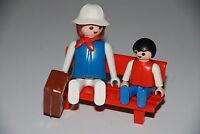 Playmobil 4371 señora con maleta y niños familia gente personajes tren train