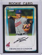 FRANCISCO LINDOR ROOKIE CARD Cleveland Indians Baseball 2011 Bowman BLACK 1st RC