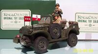 KING & COUNTRY D DAY 1944 DD022F PATTON'S COMMAND JEEP SET MIB