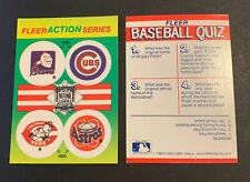 1990 Fleer Sticker Card Braves Chief Noc-a-Homa Cubs Reds Astros Astrodome LOGO