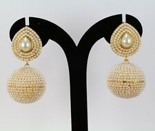 New gold Plated Indian Handmade fashion jewelry pearl  Earring Dangle Women