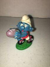 Smurfs Australian Football Smurf Vintage Figure PVC Toy 1980 Peyo Schlumpf