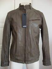Bomboogie Leather Jacket Uomo Giacca di pelle giubbotto vera pelle taglia L nuovo con ETIKET