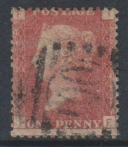 Great Britain/GB - 1858, 1d Penny Red - Letters IF - Plate 203 - Used- SG 43 (a)