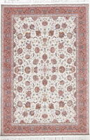 5x7 Wool Acrylic All Over Floral Very High Quality Area Rug Hereke