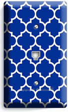 Geometric Blue White Arabic Pattern Phone Telephone Cover Wall Plates Room Decor