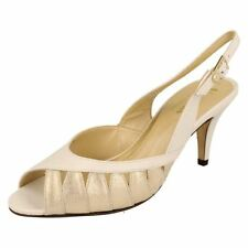 Patternless Women's Composition Leather Slingbacks