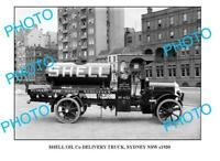OLD 6 x 4 PHOTO OF SHELL OIL Co TRUCK c1930 SYDNEY
