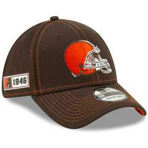 CLEVELAND BROWNS NEW ERA FLEX HAT 39THIRTY NFL SIDELINE ROAD FITTED ONFIELD CAP