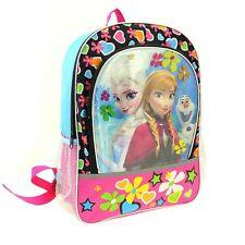 Disney Frozen Anna Elsa Olaf  Backpack Black Pink 2pocket FREE initals EMBROIDER