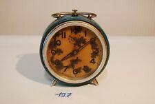C127 Très ancien réveil JAZ Art deco bleu