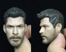 "1/6 Male Carved PVC Head Sculpt Thor Odinson Model Fit 12"" PH Action Figure Gift"