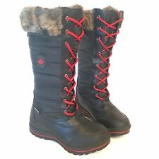 COUGAR Canada Canuck Winter Boots Tall Pull-On Lace-Up Insulated Women's Size 6