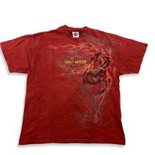 Harley Davidson Vintage 2007 El Paso Texas Dragon Shirt Red Used Look Size XL HD...
