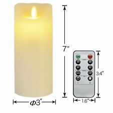 Fine electric candle made real wax without flame with timer remote control FA3
