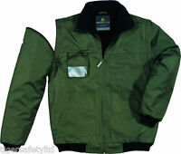 Delta Plus Panoply Reno Olive Green Mens Outdoor Bomber Jacket Rain Coat BNWT