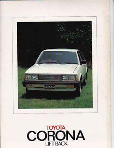 Two 1980-81 TOYOTA XT130 CORONA & RT132 LIFTBACK Australian Market Brochures