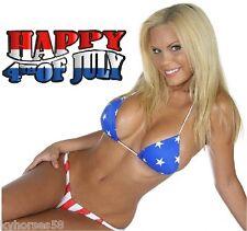 Sexy Happy Fourth Of July Model In Bikini Refrigerator Magnet
